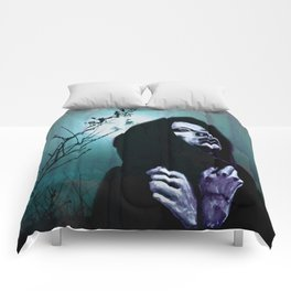 Turquoise Woods Comforters