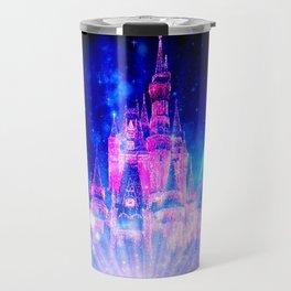Princess Fairy Tale Enchanted Castle Pink & Blue Travel Mug