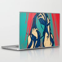 cancer Laptop & iPad Skins featuring Cancer by Rendra Sy