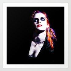 Kristen Stewart - Luminous Punk Glow Art Print