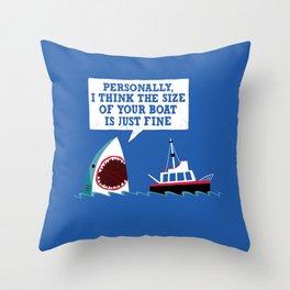 Polite Jaws Throw Pillow