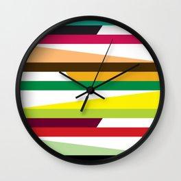 Geometric Pattern 73 (colorful stripes) Wall Clock