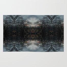 Stained Glass Trees Rug
