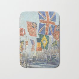 Avenue of the Allies, Great Britain, 1918 by Childe Hassam Bath Mat