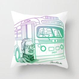 Rosa Parks, Courageous Woman Throw Pillow