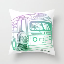 Rosa Parks, Courageous Woman Throw Pillow
