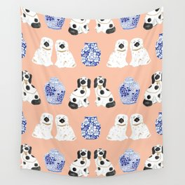 Staffordshire Dogs + Ginger Jars No. 5 Wall Tapestry