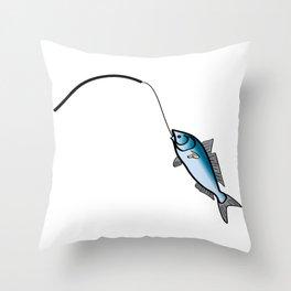 Caught a Fish Throw Pillow