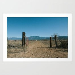 Mountains Through a Gate Art Print
