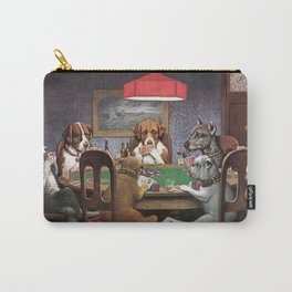 Dogs Playing Poker A Friend in Need Painting Carry-All Pouch