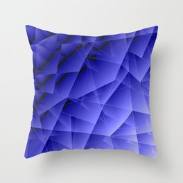 Repetitive overlapping sheets of pastel blue paper triangles. Throw Pillow