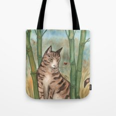 Tabby in the Bamboo Tote Bag