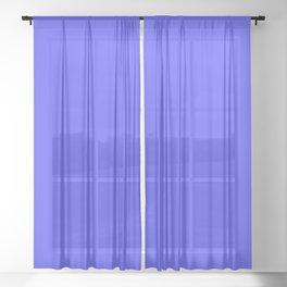 Bright Fluorescent Neon Blue Sheer Curtain