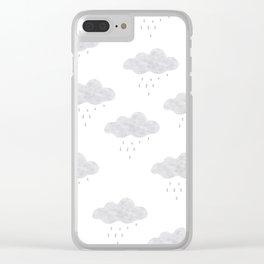 Rainy cloud Clear iPhone Case