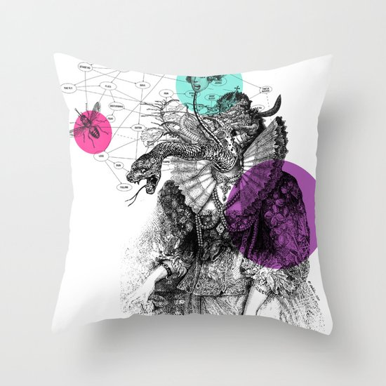 Le rêve de Madame K. Throw Pillow