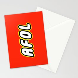 AFOL ADULT FAN OF LEGO in Brick Font by Chillee Wilson Stationery Cards