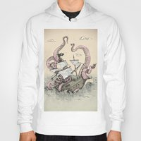 kraken Hoodies featuring Kraken by Stephanie Dominguez Art Shop