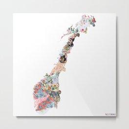 Norway map Metal Print
