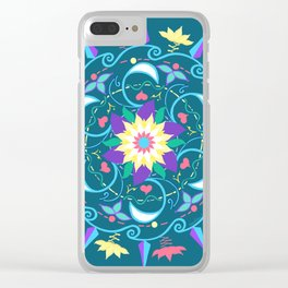 Lotus Waves Clear iPhone Case
