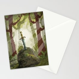 8-Bit Sword In The Stone Stationery Cards
