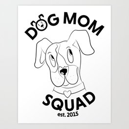 Staffy Squad Art Print