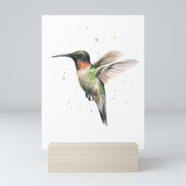 Hummingbird Watercolor Mini Art Print