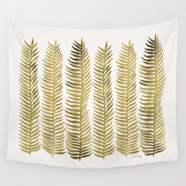 Golden Seaweed Wall Tapestry