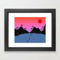 Swim Together Framed Art Print