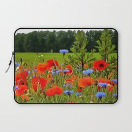 Poppies And Cornflowers Laptop Sleeve