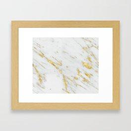 Treviso gold marble Framed Art Print