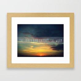 Goodmorning Framed Art Print