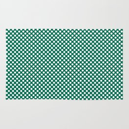 Lush Meadow and White Polka Dots Rug