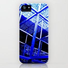 Blue Structure iPhone Case