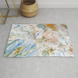 Abstract modern marbel wavy painting pattern Rug
