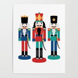 Three Nutcracker Figures Poster