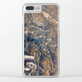 Swirling Clouds of Planet Jupiter Close Up from Juno Cam Clear iPhone Case