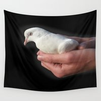 spiritual Wall Tapestries featuring Spiritual Dove by Abstractartchick
