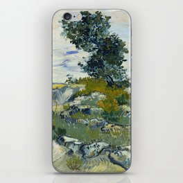 The Rocks by Vincent Van Gogh iPhone Skin