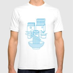 Ramen Set MEDIUM Mens Fitted Tee White