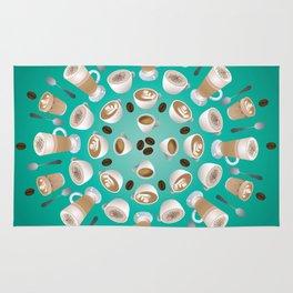 Coffee Kaleidoscope Rug