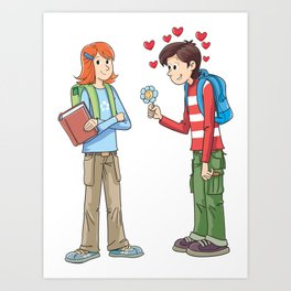 Courtship Art Print