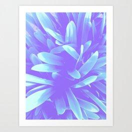 Elegance, Blue Art Print