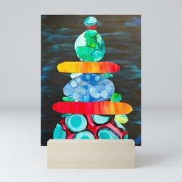 Multi rock stack Mini Art Print
