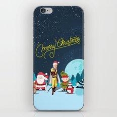 Saitama Celebrate Christmas iPhone & iPod Skin