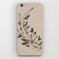 antler iPhone & iPod Skins featuring Floral Antler by Jessica Roux