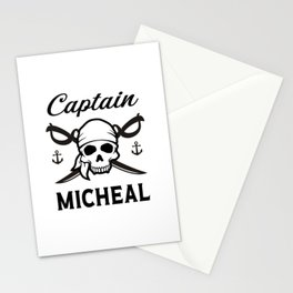 Personalized Name Gift Captain Micheal Stationery Cards