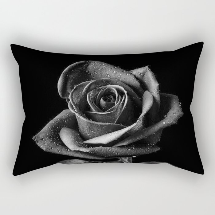Black Roses Rectangular Pillow