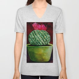 Little green Cactus Unisex V-Neck