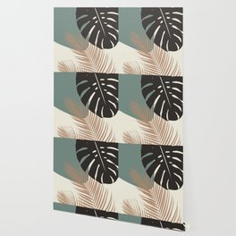 Minimal Monstera Palm Finesse #1 #tropical #decor #art #society6 Wallpaper