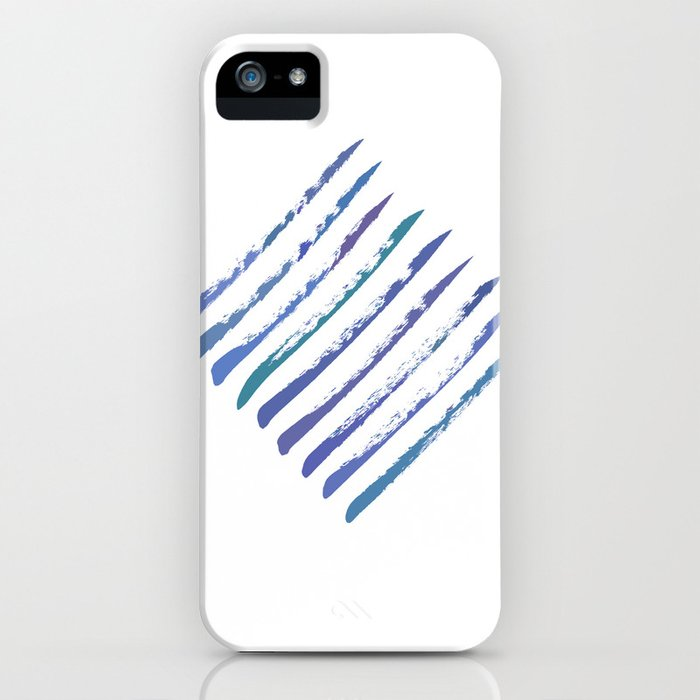 Rough stripes in blues iPhone Case